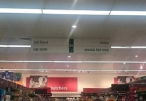 The saddest aisle in the supermarket