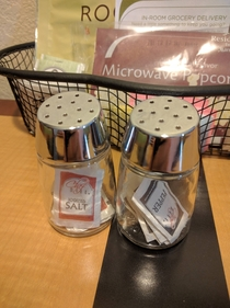 The salt and pepper shakers at my hotel are worthless