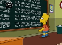 The Simpsons supporting South-Park for standing up to censorship