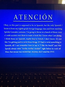 The spanish anti-theft warning on the Red vs Blue DVD