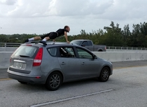 The strange things you see while driving  mph in Florida