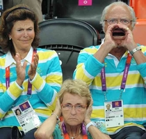 The Swedish King supporting his country when its needed most of all