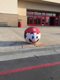 The Target near me put Mario and Luigi sleeves over the big red balls