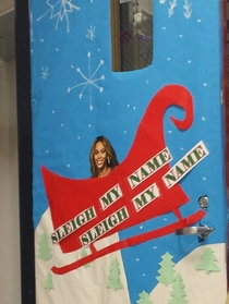 The teachers at my school are having a door decorating contest This is my math teachers door