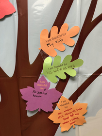 The thankfulness tree at work
