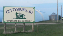 The town motto of Gettysburg SD