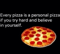 The truth about self and pizza