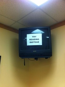 The TV at the doctors office today