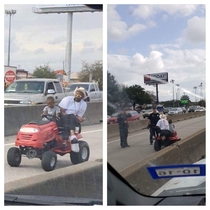 The Two redditors capture rise and fall of lawnmower guy and his son driving in the HOV lane