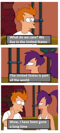 The United States is part of the world