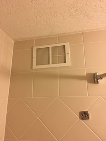 The vent in my hotel shower doesnt seem to be working