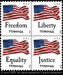 The way they void the sample stamps on the USPS website seems like a political statement
