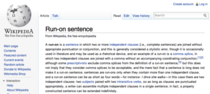 The Wikipedia entry for run-on sentence is a run-on sentence