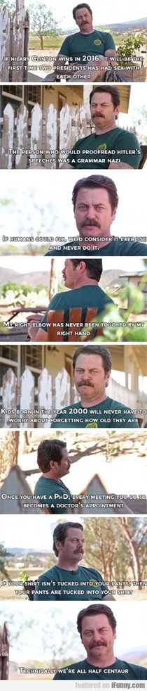 The wisdom of Ron swanson