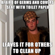 The worst kind of germaphobic asshole works on my floor
