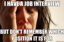 The worst part of applying for so many job opportunities