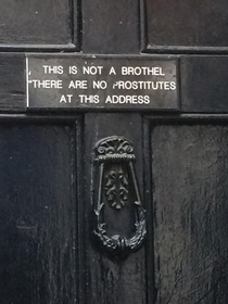 There are no prostitutes at this address