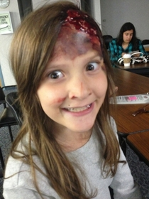 There was a disaster drill at a local hospital she had the best makeup