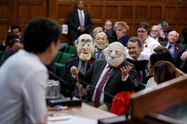 There were some hecklers in Canadian Parliament today