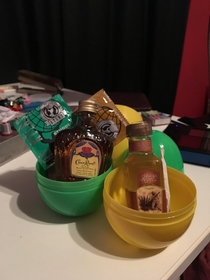 There were special x marks Easter eggs just for the adult children in my family this year Mine contained liquor condoms and a joint I love my family so much
