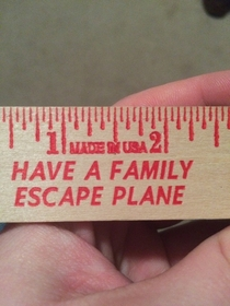 Theres a bit of a typo on this ruler I got from the local fire department