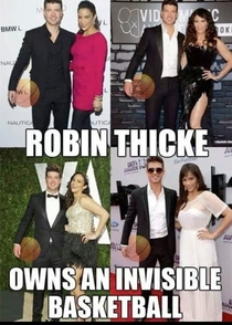 Theres a reason Robin Thicke has his arms like a Ken doll