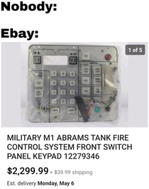 Theres some weird stuff on Ebay