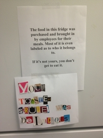 These are posted on my offices fridge
