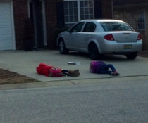 These are the children waiting for the school bus in my neighborhood Thursdays are just hard