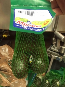 These avocados were sold in sacks of