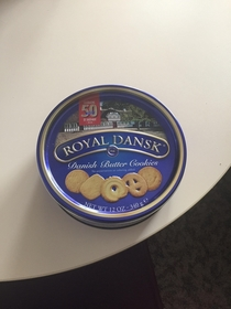These cookies sat untouched on the table at work for nearly  weeks because it never occurred to anyone that there could be cookies inside