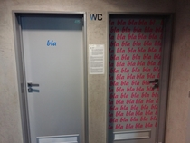 These doors to the toilets I saw at a science centre in Liberec Czech Republic