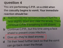 These first aid books are getting pretty dark
