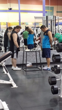 These guys were exercising their most important muscle at the gym today I couldnt muster up words
