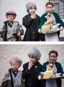 These Irish kids and their Father Ted costumes