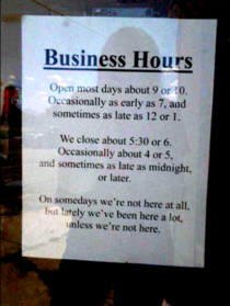 These Italian business hours