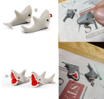 These shark earrings I bought for a friend for christmas