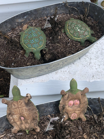 These turtles belonged to my wifes grandparents They had many items similar to this