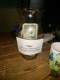 They got a well-deserved tip for this