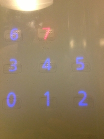They put the Braille in this elevator over the top of the touch sensitive buttons