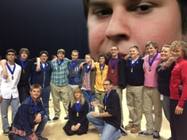 They told me to photoshop him into our championship picture since he couldnt be there so I did