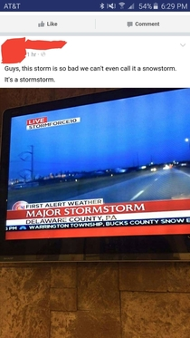 They upgraded this snowstorm