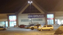 Theyre redoing the London Drugs sign in my town this is how they left it overnight