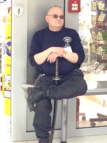 Theyve stepped up security at the supermarket