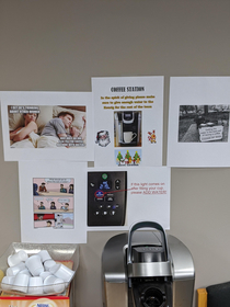 Things are getting out of hand with the office coffee machine