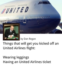 Things that will get you kicked off an United Airlines flight