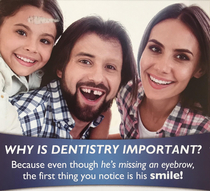 This advertisement from a dental office