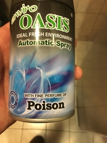 This air freshener is poison scented