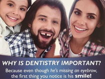 This amazing advertisement from a local dentistry
