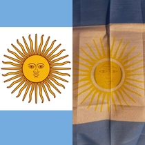 This Argentinian flag